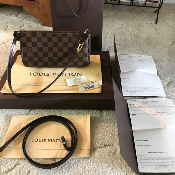 37a26766927a Louis Vuitton Handbags - LV Pochette Accessoires Damier Ebene Crossbody